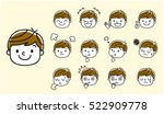 boys  face  facial expression ... | Shutterstock .eps vector #522909778