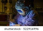 welder  craftsman  erecting... | Shutterstock . vector #522916996