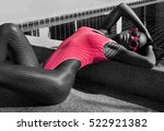 woman with fit body in... | Shutterstock . vector #522921382