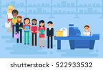 store with customers crowd and... | Shutterstock .eps vector #522933532