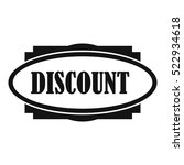 discount oval label icon.... | Shutterstock .eps vector #522934618