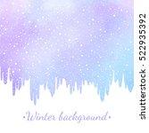 winter watercolor abstract... | Shutterstock .eps vector #522935392