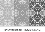set of decorative floral... | Shutterstock .eps vector #522942142