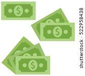dollar cash icon in flat style... | Shutterstock .eps vector #522958438