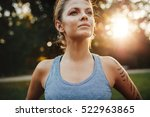 close up portrait of fit young... | Shutterstock . vector #522963865