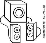 speaker set with subwoofer   Shutterstock .eps vector #52296850