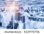 labor force work in the garment ... | Shutterstock . vector #522970756