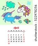 calendar 2017 in cartoon 80s...   Shutterstock .eps vector #522978256