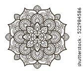 mandala. ethnic decorative... | Shutterstock .eps vector #522984586