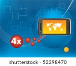cell phone technological...   Shutterstock .eps vector #52298470