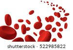 red blood cells flow along on... | Shutterstock . vector #522985822