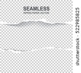 seamless ripped paper and... | Shutterstock .eps vector #522985825