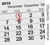 december 1  2016 world aids day....   Shutterstock .eps vector #522987022