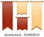 medieval style of banners in...   Shutterstock .eps vector #523003015
