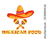mexican mexico food restaurant... | Shutterstock .eps vector #523004416