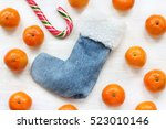 flat layout with a warm boot ... | Shutterstock . vector #523010146