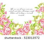 vintage delicate invitation... | Shutterstock .eps vector #523013572