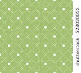 seamless pattern with polka dot ... | Shutterstock .eps vector #523020052