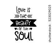 vector hand drawn lettering... | Shutterstock .eps vector #523029025