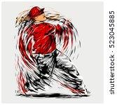 vector illustration of a... | Shutterstock .eps vector #523045885