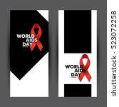 world aids day card design.... | Shutterstock .eps vector #523072258