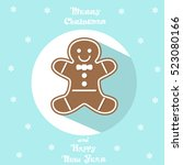 holiday symbol. icon cute... | Shutterstock .eps vector #523080166