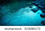 quiet river water in the... | Shutterstock . vector #523080172