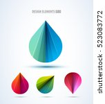 abstract shell logo design... | Shutterstock .eps vector #523083772