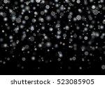 falling snow. christmas  new...