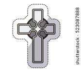 isolated religion cross design | Shutterstock .eps vector #523087888