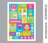 business infographic   mosaic... | Shutterstock .eps vector #523098412