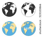 icon globe  four globe  earth.... | Shutterstock .eps vector #523103866