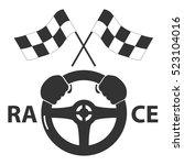 logo racing steering  wheel ...   Shutterstock .eps vector #523104016