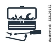 tool box  kit  isolated icon on ... | Shutterstock .eps vector #523109152