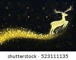 Christmas Reindeer Silhouette...