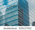 skyscraper buildings and sky... | Shutterstock . vector #523117522