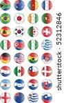 soccer vector balls with flags... | Shutterstock .eps vector #52312846