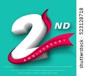 anniversary emblems 2... | Shutterstock .eps vector #523128718