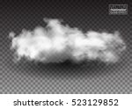 fluffy white clouds. realistic... | Shutterstock .eps vector #523129852