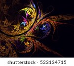 computer generated fractal... | Shutterstock . vector #523134715