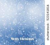 falling snow texture. winter... | Shutterstock .eps vector #523141816