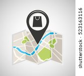shop store map pin pointer... | Shutterstock .eps vector #523163116