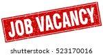 job vacancy. stamp. square... | Shutterstock .eps vector #523170016