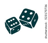 game dices icon. two game dice... | Shutterstock .eps vector #523170736