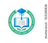 education   vector logo... | Shutterstock .eps vector #523180828