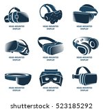 isolated vr headset logotype... | Shutterstock .eps vector #523185292