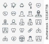 medicine disease symptom... | Shutterstock .eps vector #523187758