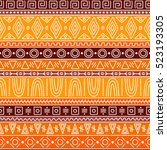 seamless pattern in african... | Shutterstock .eps vector #523193305