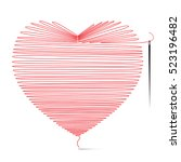 heart icon made from string... | Shutterstock .eps vector #523196482