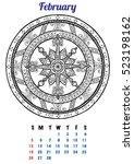 2017 january calendar planner...   Shutterstock .eps vector #523198162